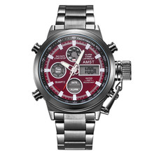 amst factory direct sale stainless steel casual quartz men watches 3003