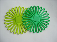 Dongguan factory wholesale high quality silicone sunflower placemats