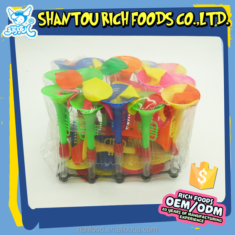 Plastic Toy Trumpet Balloon Toy Candy in Tray
