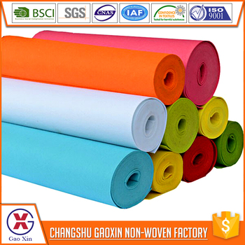 Exquisite workmanship colorful 100% cotton felt fabric