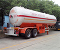 China factory low price 2-axle liquefied petroleum gas lpg storage tank semi trailer