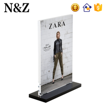NZ M13 Custom Tabletop Display Stand A4 Clear Acrylic Menu Holder Sign Display