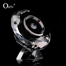 Oirlv Wholesale Custom Chinese Supplier Elegant High Transparent Crystal Display Holder Rack Loose Diamond Display Box