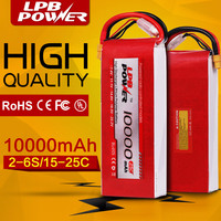 High Capacity 22.2V 14.8V 11.1V 10000mAh Lipo Battery Pack,10000mah Lipo Battery Pack for UAV drone multirotor RC model