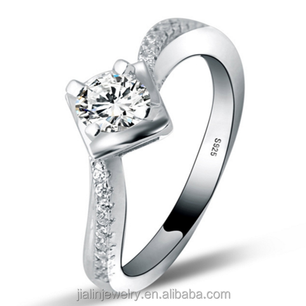Fashion Jewellery 18k White Gold Plated Engagement Rings Miami