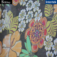 10mm digital printed silk crinkle chiffon fabric