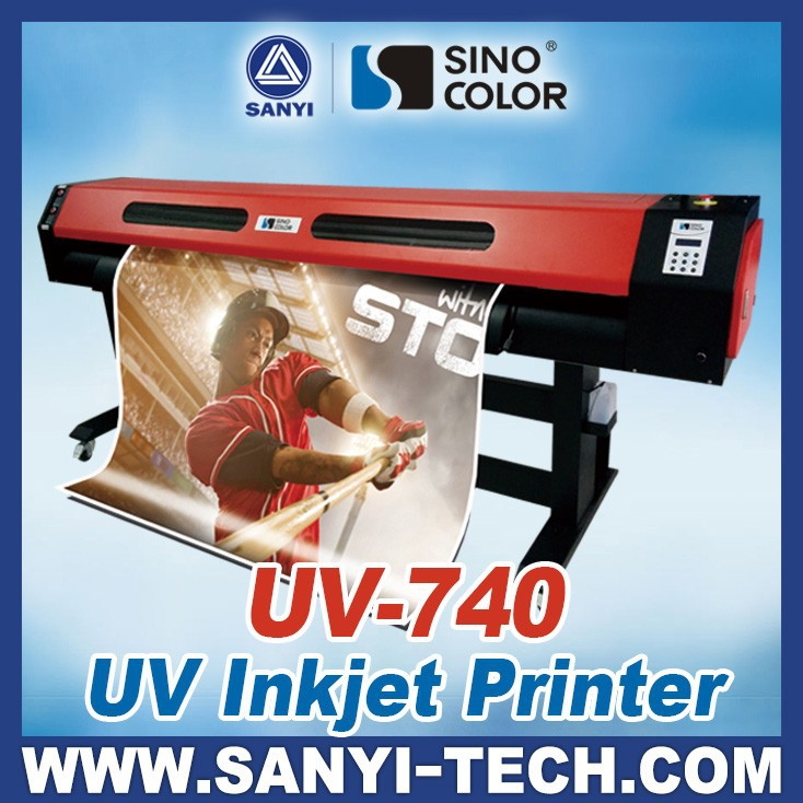 Digital Roll to Roll UV Printer Sinocolor UV740 With Epson DX7 Head And USA LED LAMP