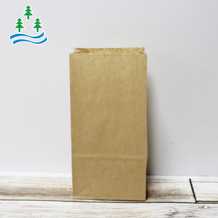Kraft Compostable Heat Seal Sealing Lunch Manufacturers Square Bottom Food Paper Bag Custom Print