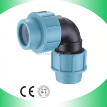 Name of Plastic Raw Material PP 90Deg Elbow Pipe Fittings Made In China