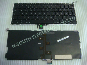 German laptop keyboard for APPLE A1278 GR layout black