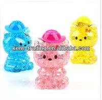 little KT cat shape liquid air freshener for room and car