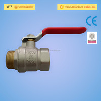 China Manufacturer Lever Handle CW617N PN 25 600 WOG Water Oil Gas Forged 1 Inch Brass Ball Valve