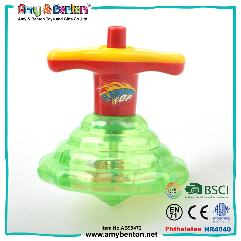 Wholesale cheap plastic spinning top with light music