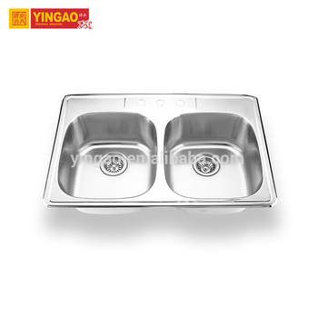 3322 New design bathroom sinks Stainless Steel Kitchen Sink With Drain Board
