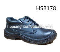 PU injection sole cow leather S1P standard safety shoes for factory workers