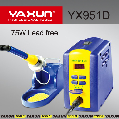 220V / 110v YAXUN 951D Soldering Iron station LEAD-FREE welding machine best quality