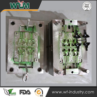 PP material multi-cavities plastic injection mold with slider