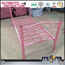 Europe hot style colorful children single bed pink metal bed