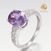 Fashion jewelry artificial moroccan diamond wedding ring
