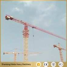 6 ton flat top tower crane for rental in south east asia
