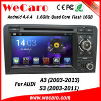 Wecaro Android 4.4.4 in dash touch screen car dvd gps navigation system for audi a3 2003-2013 WIFI + 3G + BLUTOOTH + GPS