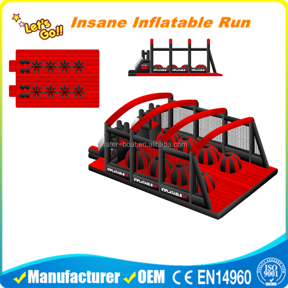 attractive giant up and down inflatable 5K Obstacle Course Run