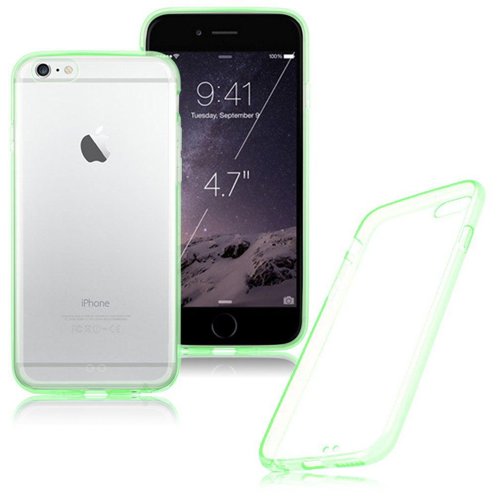Clear Hard Back Silicone TPU Bumper Case For Apple iPhone 6, for iphone 6 plastic case mobile phone cases wholesale
