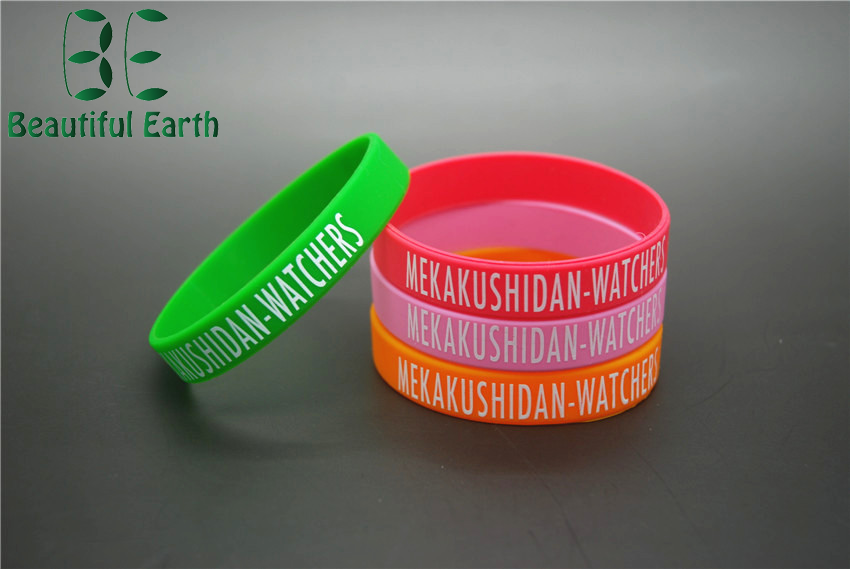 promotional fancy gift silicone bracelet with candy colors