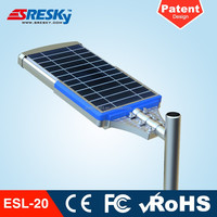 3 Year Warranty 20W All In One Led Solar Road Light