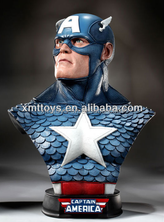 Captain America bust head statue for home decoration
