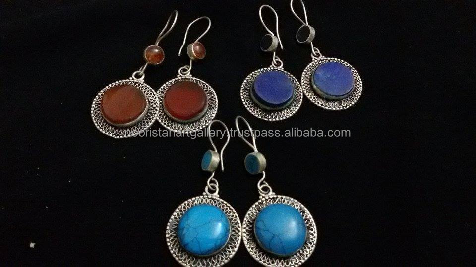 (KE-0005) Tribal vintage Earrings/ Vintage Earrings/Kuchi Wholesale Jewellery