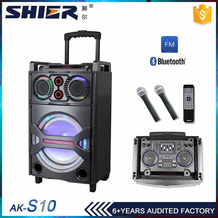 Cheap wholesale flashing light professional concert stage speaker 10 inch woofer