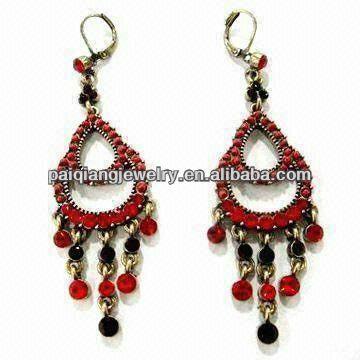 Daily wear fashion crystal drop hand blown glass earrings