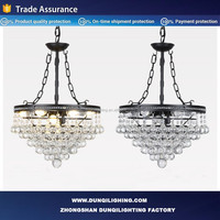 America Style Large decorative glass pendant lamp