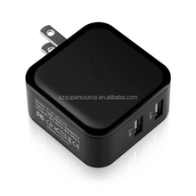 High quality foldable US plug wall charger 4.8A 24W dual port for iphone, samsung, htc, lg