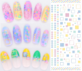 colorfull water slide decals printers nail stickers