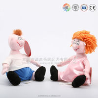 Custom inflatable plush doll with foam and red hair