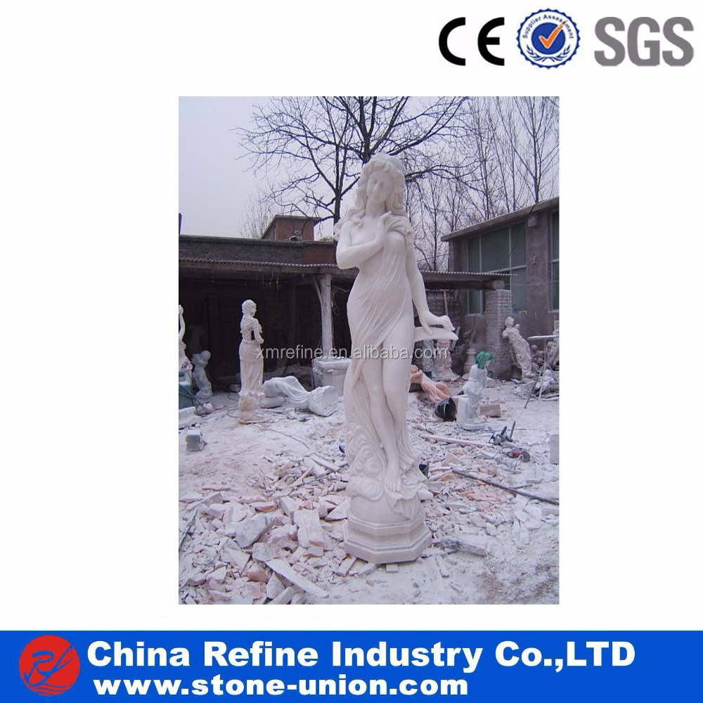White marble human statue stone hand carving sculpture