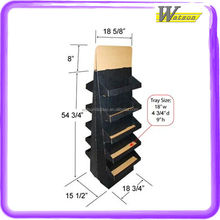 Double Sided Package 5 Tiere Layer Black Cardboard Display Stand
