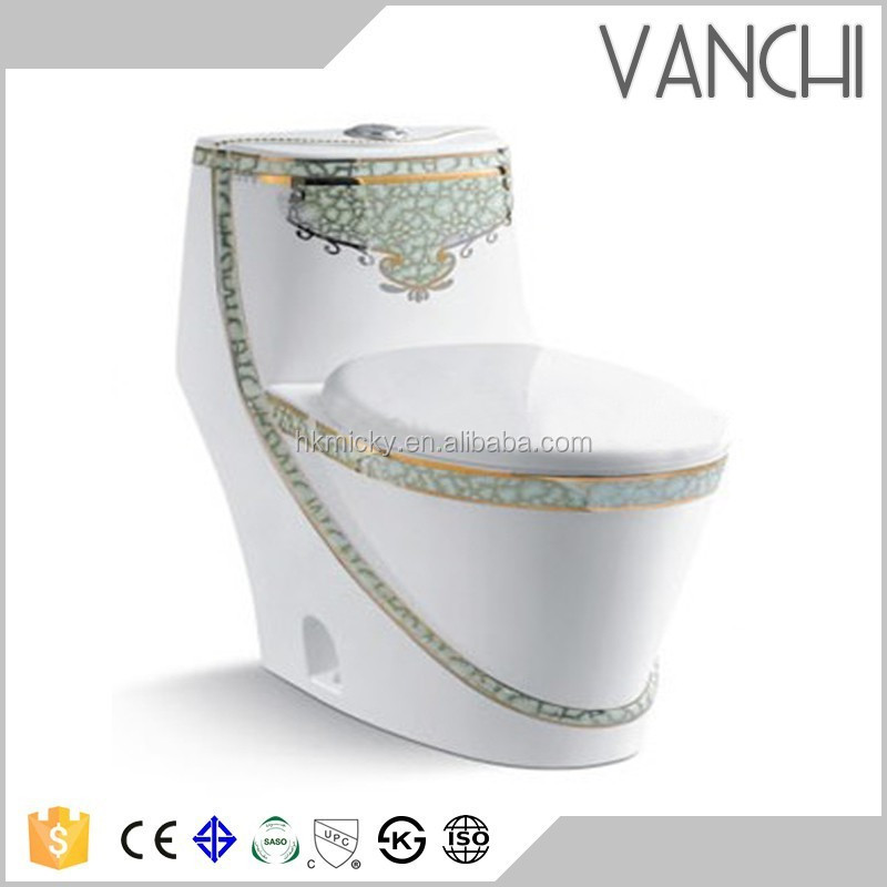 Bathroom ceramic ecorative bath and toilets comode types