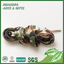 Custom cheap shoe lace printed polyester rope laces from China