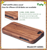 100% Natural Eco-friendly Style Zebra Wood Cell Phone Case For iPhone 6, Zebra material for wooden iphone case 2 in 1