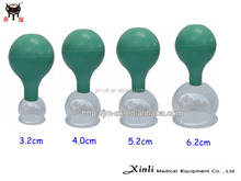 Chinese medicine therapy rubber bulb suction glass cupping cup