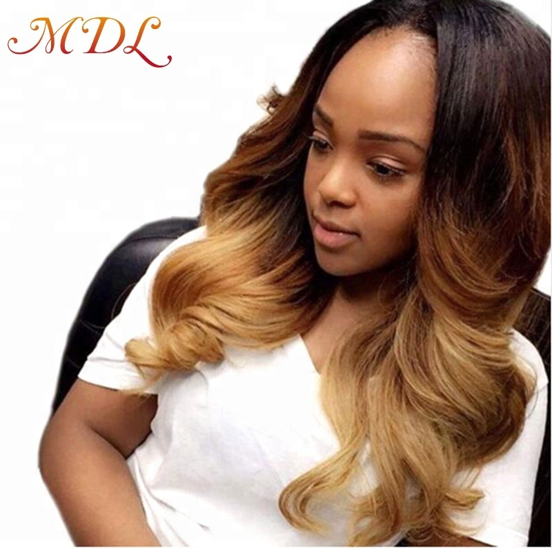 1b427 3 Tone Color Ombre Color Body Wave Virgin Remy Indian Human