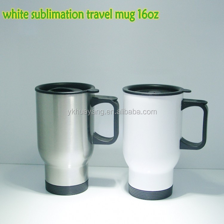 2015 new white color blank mug for sublimation double wall stainless steel 16oz (HY-<strong>A085</strong> with mix color)