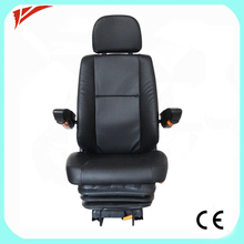 Deluxe air suspension pvc used truck drive bus seat for sale