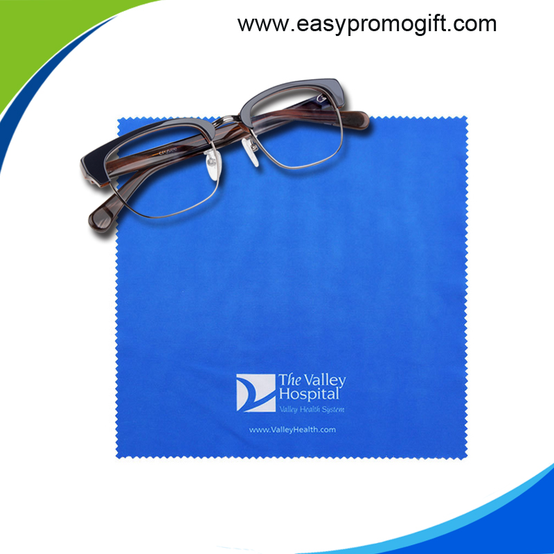 custom print microfiber cleaning cloth eyeglass cleaner