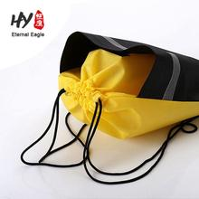 large size zipper and pocket metallic non woven drawstring bag