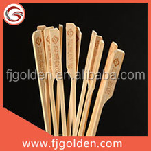 Popular bamboo sticks with customer branded for barbecue