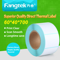 Directly Thermal Paper Label Rolls 60*40*700 / Lables Sticker Adhesive